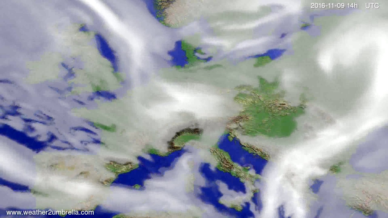 Cloud forecast Europe 2016-11-05