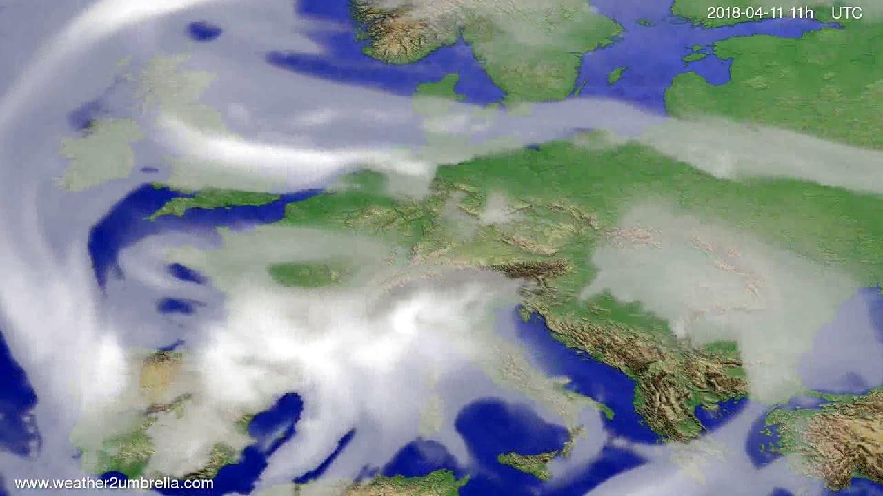 Cloud forecast Europe 2018-04-08