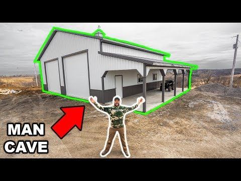 Building My DREAM MAN-CAVE/WORKSHOP!!! (Start to Finish)
