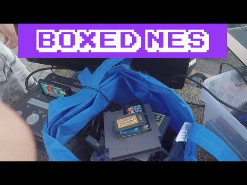Flea Market Video Game Live Pick ups #68 || Boxed NES || Game Vault