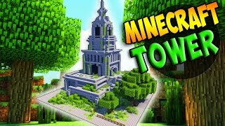 How to Build a TOWER in Minecraft!!! Medieval Village Ruin! EPIC BUILD!!!