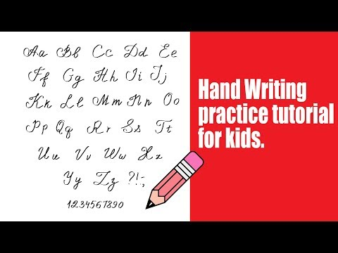 (Hand Writing practice tutorial for kids. - Duration: 2 minutes, 15 seconds.)