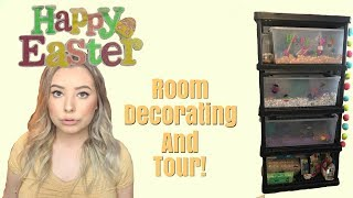 EASTER THEMED PET ROOM TOUR AND DECORATING! by Emma Lynne Sampson