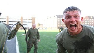 US Marines react to being pepper sprayed and tased during Non-Lethal Weapons Training. Video shows US Marines reaction to ...