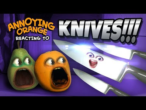 Video Annoying Orange and Pear React to KNIVES!!! download in MP3, 3GP, MP4, WEBM, AVI, FLV January 2017