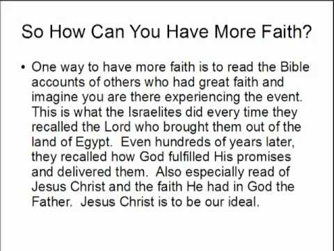 How To Have More Faith In God