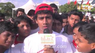 Kishore at Vajram Team Organized Marathon for School Students