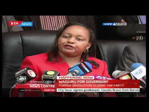 Former Devolution CS Anne Waiguru's speech after receiving gold certificate