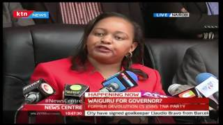 Former Devolution CS Anne Waiguru's speech after receiving gold certificate