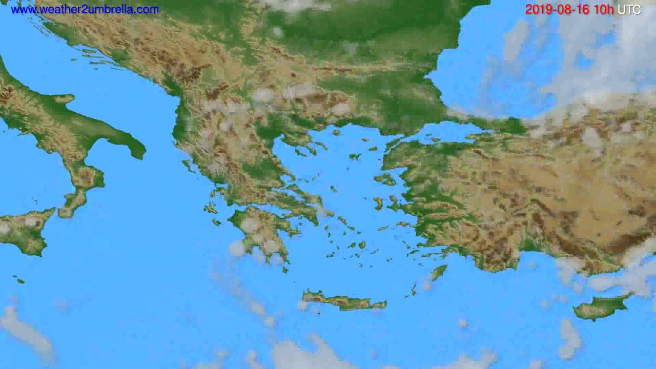 Cloud forecast Greece // modelrun: 00h UTC 2019-08-14