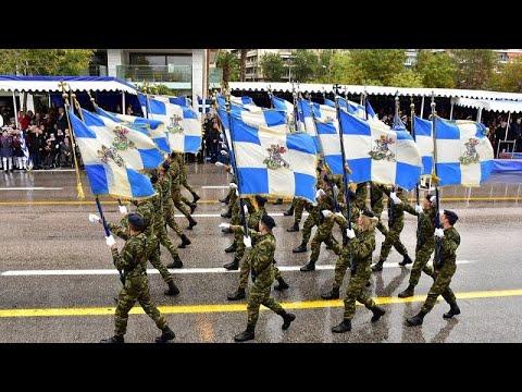 Στρατιωτική παρέλαση στη Θεσσαλονίκη παρουσία του Ιταλού προέδρου…
