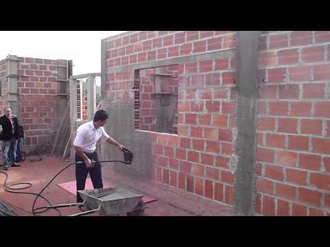 rebocar paredes - Vídeo-treinamento do Projetor de Argamassa JET-15 - Rendimento 60 m2/hora ELTHOR Equipamentos - Um novo conceito em CONSTRUIR Fone: ( 1 1 ) 4 2 2 7 - 2 0 2 0...