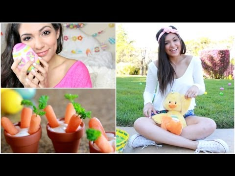 Easter Makeup, Outfit Ideas, + DIY Treat! By Bethany Mota