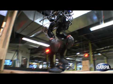 DARPAtv - This video shows versions of DARPA and Boston Dynamics robots climbing stairs, walking on a treadmill and doing pushups. A modified platform resembling these...