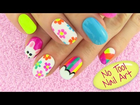 Nail - DIY nail art projects tutorial with 5 easy nail art designs tutorial - no tool nail art! In this diy nails project I show five easy nail art designs for whic...
