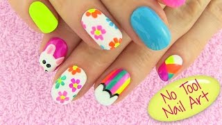 DIY Nail Art Without any Tools! 5 Nail Art Designs - DIY Projects - YouTube