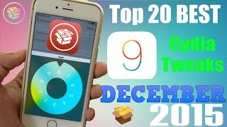 Top 20 NEW Cydia Tweaks for iOS 9 to 9.0.2 - December 2015, ios 9, ios, iphone, ios 9 ra mat