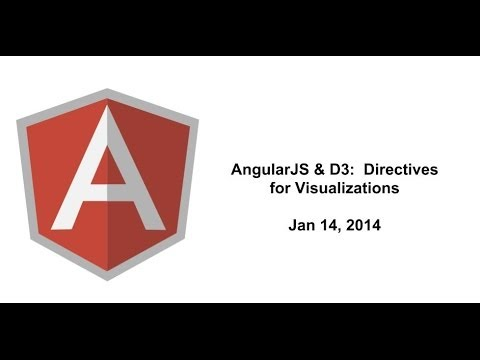 D3 - AngularJS & D3: Directives for Visualizations Speaker: Victor Powell (http://vctr.me/), who is publishing an ebook soon with Ari Lerner of ng-newsletter. Ang...