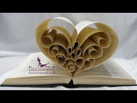 How to make Book Art. Heart.