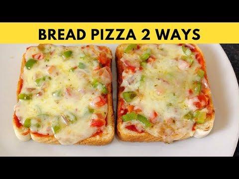 Bread Pizza Recipe On Tawa  Recipe
