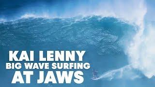 2. Go Behind Kai Lenny's 20ft Jaws Lip Drop