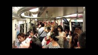 Ride On The SkyTrain Of Bangkok From Siam Station To Asok.   (Metro Bangkok - Thailand)