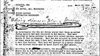 FBI Files Released To Public About UFO Incident At Roswell (7 APRIL 2011)