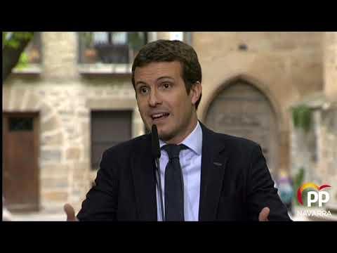 Pablo Casado, en Pamplona