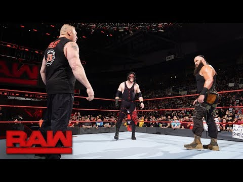 Brock Lesnar's Royal Rumble challengers revealed: Raw, Dec. 18, 2017 (видео)