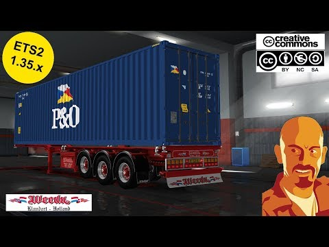 WEEDA D-TEC CONTAINER TRAILER OWNABLE 1.35.x