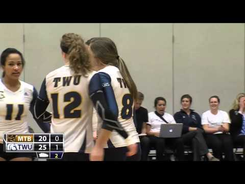 2014-10-31 TWU Women's Volleyball Highlights vs Manitoba