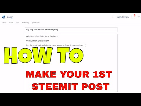 How to Format Posts and Post on Steemit | Absolute Beginners Guide & Tutorial