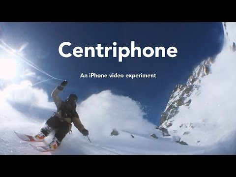 Guy spins his iPhone around his head creating a really cool video effect.
