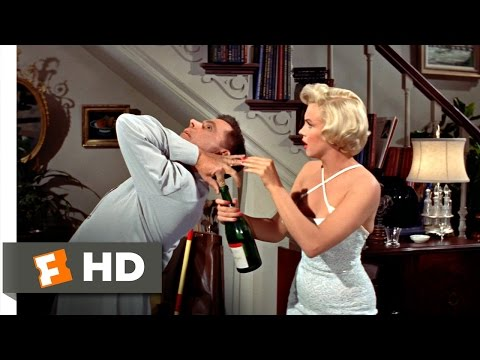 The Seven Year Itch (3/5) Movie CLIP - Opening The Champagne (1955) HD