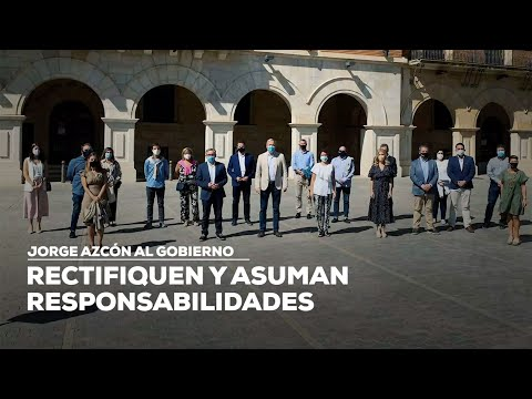 """Jorge Azcón al Gobierno: """"Rectifiquen y asuman responsabilidades"""""""