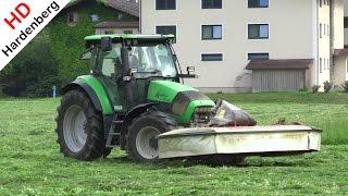 Hippach Austria  city images : Gras maaien | Deutz-Fahr Agrotron K110 + Kuhn | Mowing grass in Hippach | Zillertal | Austria.