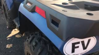 1. 2014 Polaris Sportsman 400 H.O. Review With Plow