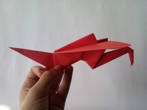 Как сделать журавля из бумаги которые машет крыльями