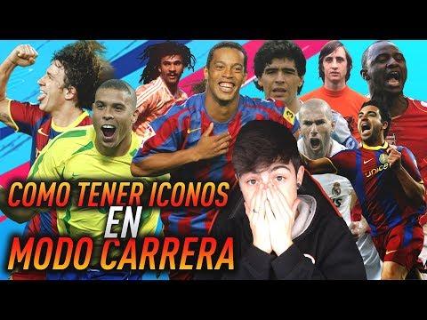 COMO tener ICONOS & LEYENDAS en MODO CARRERA FIFA 19! | ICONOS en MODO CARRERA | TheMavericK