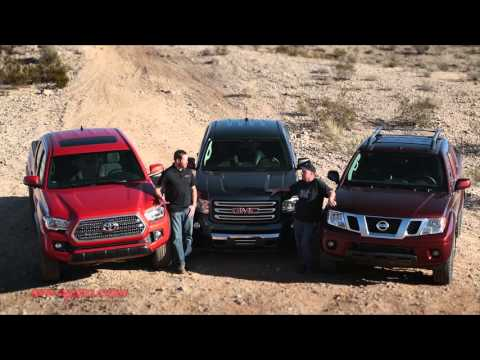 2016 mid size truck shootout tacoma vs canyon vs frontier. Black Bedroom Furniture Sets. Home Design Ideas