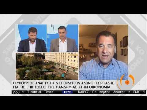 Α.Γεωργιάδης | Ο Υπουργός Ανάπτυξης και Επενδύσεων στη ΕΡΤ  | 07/09/2020 | ΕΡΤ