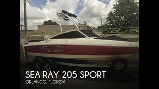 6. [UNAVAILABLE] Used 2008 Sea Ray 205 sport in Orlando, Florida