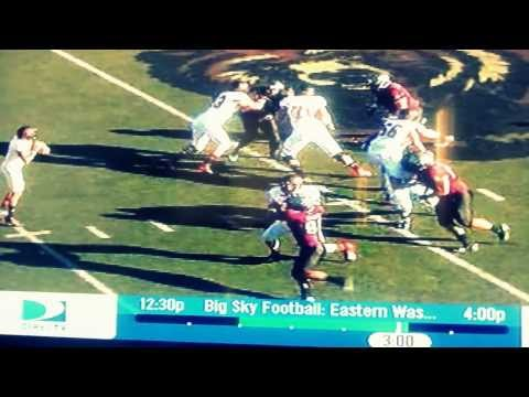 Vernon Adams Jr. scramble pass + block video.