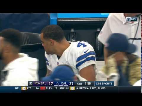 Video: Dak Prescott Makes Sure to Pick Up His Trash   Ravens vs. Cowboys   NFL