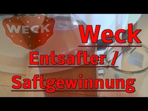 Weck ! Obstsaft herstellen ! Einkochautomat / Entsafter Test / Traubensaft