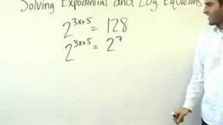 Algebra 2 - Exponential And Logarithmic Equations