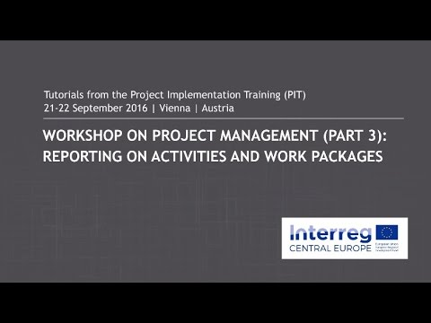 Workshop on project management: Reporting on activities and work packages