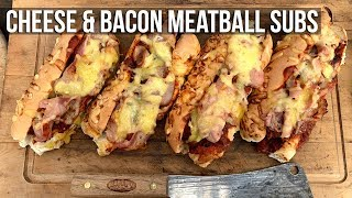 Cheese and Bacon Meatball Subs by the BBQ Pit Boys by BBQ Pit Boys