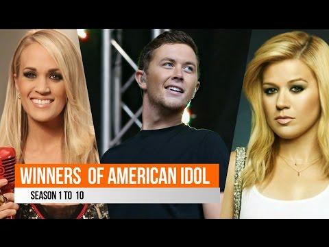 Winners Of American Idol, ( Season 1 to 10 )