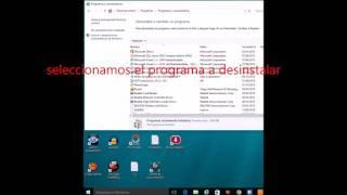 Tutorial para aprender a desinstalar programas en windows 10